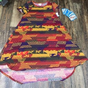 NWOT Lularoe XS Carly Dress Tribal Print